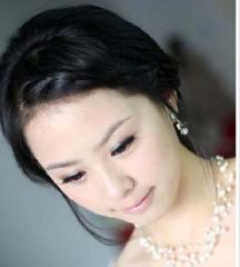 烟花四月 最新新娘的发型图片