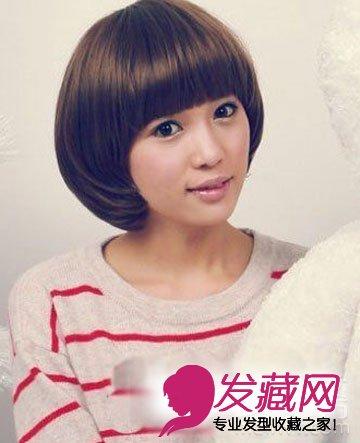 2015齐刘海短发发型 可爱又减龄(5)