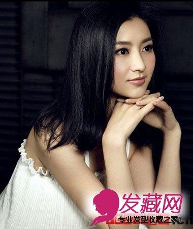 【图】眉庄扮演者斓曦清纯中长发发型照片_女明星发型