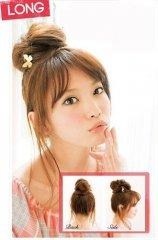 4款花苞头扎发 DIY甜美个性