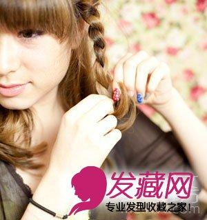 齐刘海直发发型扎法图解 美女坊女性网分享齐刘海直发发型图片(2)图片