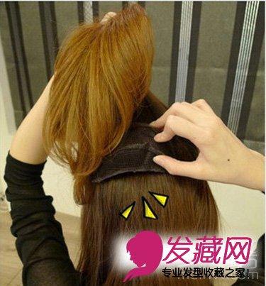 公主丝带编发发型