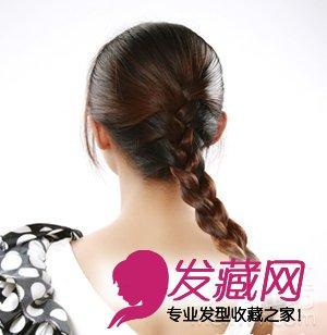 日常必学甜美蝎子辫编发 甜美的编发发型 →2款韩式编发盘发步骤 让图片