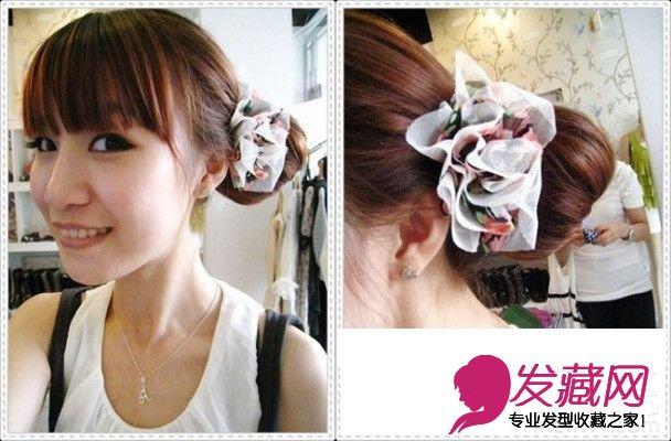 韩式包包头的扎法图解(6)图片