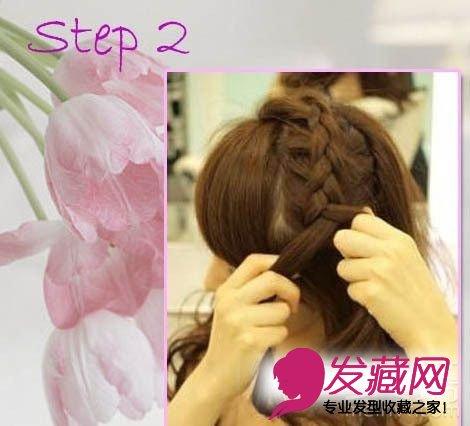 6步diy简单编发发型 最美夏日街头(3)