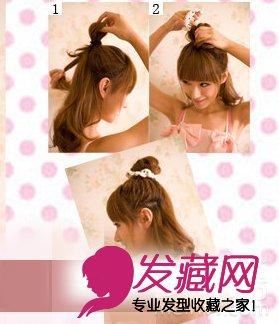 女生中发发型扎法 清爽又可爱(3)