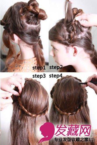 女生发型 女生长发发型 > 巧用心思 打造长发梳头发型(8)    打造步骤