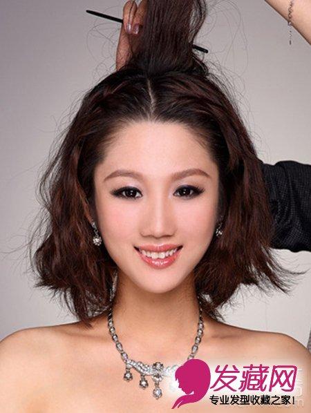 2015最新韩式新娘发型扎法(3)