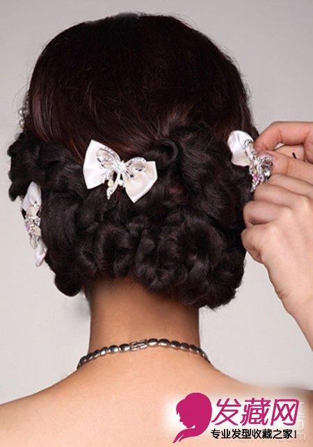 2015最新韩式新娘发型扎法(6)