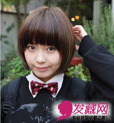 【图】学生圆脸发型 圆脸短发发型设计