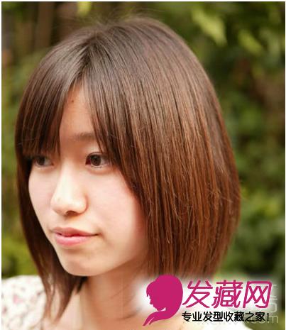学生圆脸发型 圆脸短发发型设计(3)