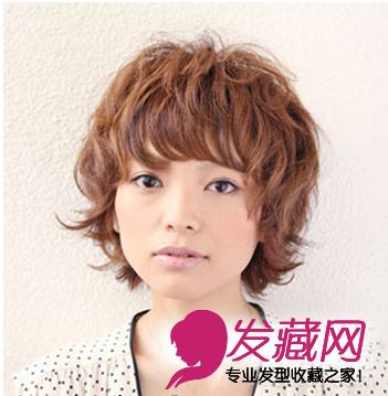 最潮女生圆脸适合的短发发型(3)