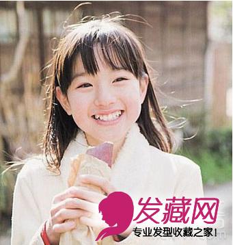 2015可爱淑女小学生发型图片(3)