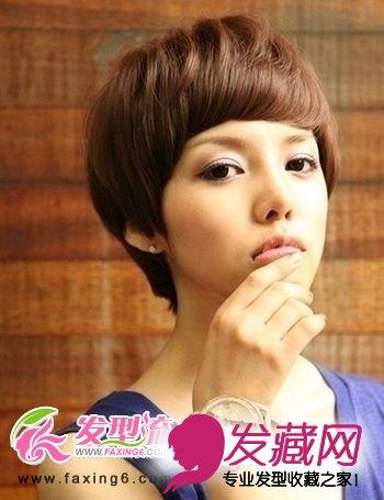 > 时尚女生短发发型清新又减龄(5)  导读:纹理女生短发 纹理线条清晰