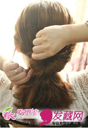 2015流行最新韩式发型扎法步骤(4)