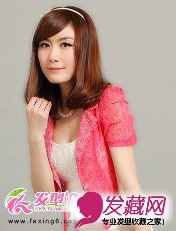 清纯造型最迷人 美女都爱直发发型(2)