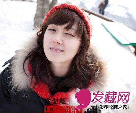 【图】张娜拉可爱童颜短发发型图片(2)