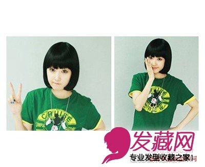 女生圆脸发型设计 完美修饰脸型(3)