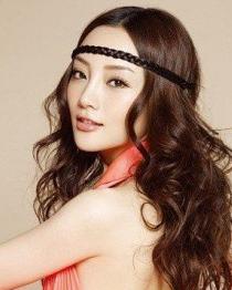 女明星李小璐波浪卷发发型