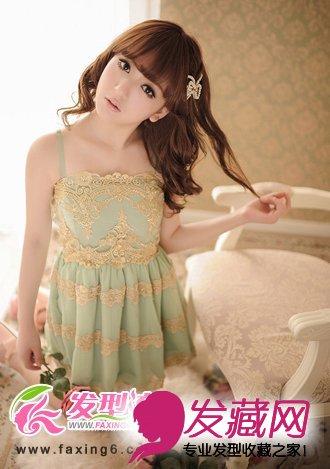 梦幻公主型中长发烫发,唯美浪漫甜美中展现出小女人乖巧可爱的淑女图片
