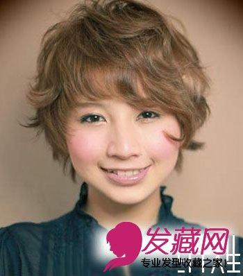 日式短发烫头图片(2)