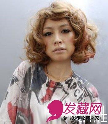 日式短发烫头图片(3)