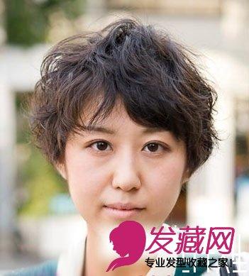 日式短发烫头图片(4)