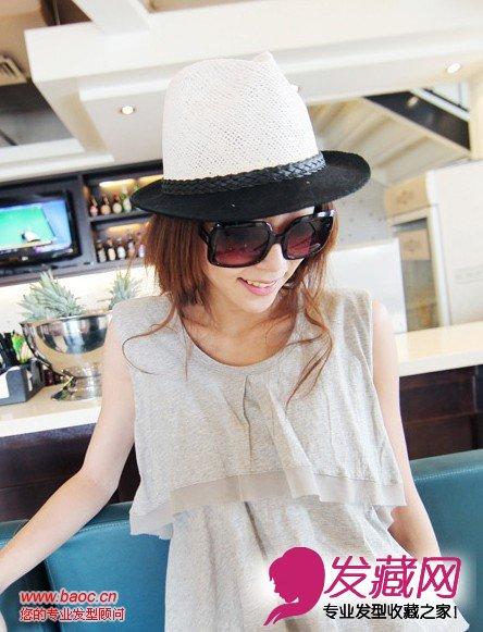 【图】夏季女生适合戴帽子的发型完美结合