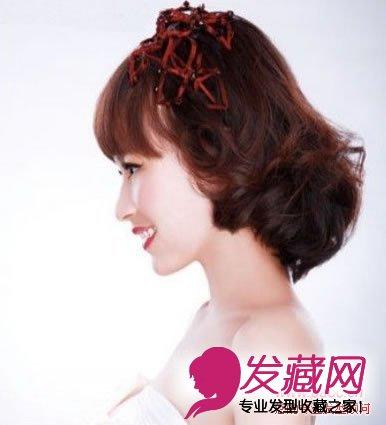 短发新娘发型