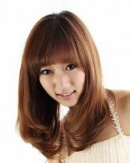 夏日小清新  甜美减龄齐刘海发型