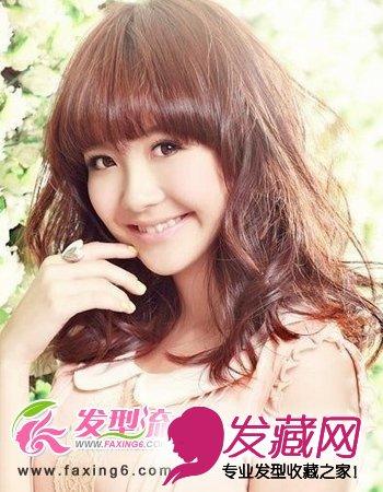 减龄平刘海发型完美呈现(4)