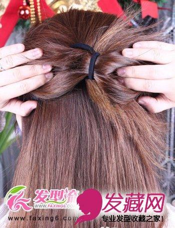 韩式盘发发型步骤图解图片
