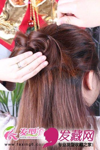 盘发发型步骤图解 长发发型盘发图解步骤 盘发发型步骤图片图片