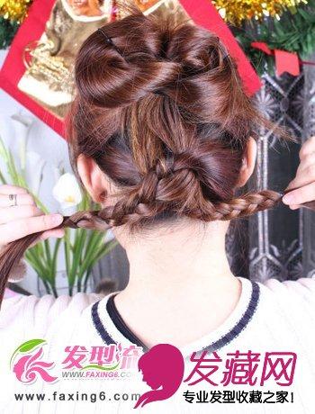 发型 →韩式盘发教程图解,轻松盘出蓬松自然丸子头 →甜美辫子盘发