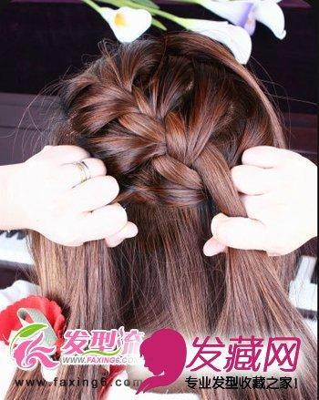 【图】唯美蝎子辫韩式发型扎法步骤(4)