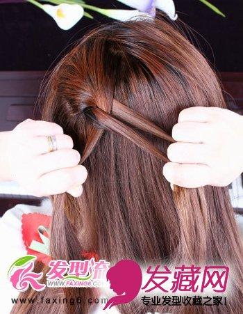 导读:step3:固定好下面的头发后,上面的头发在左上方开始编织蝎子辫图片