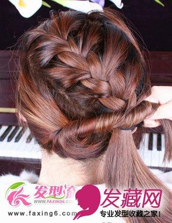 发型网 流行发型 韩式发型 > 唯美蝎子辫韩式发型扎法步骤(5)  导读