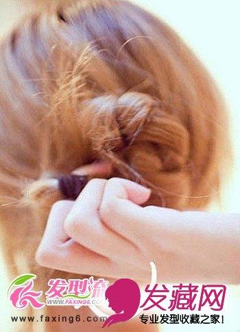 韩式公主盘发发型步骤详解(5)