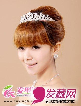 皇冠新娘盘发图片