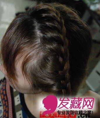 发型网 发型diy 编发教程 > 教你扎100种头发 教你直发怎么扎花苞头(3