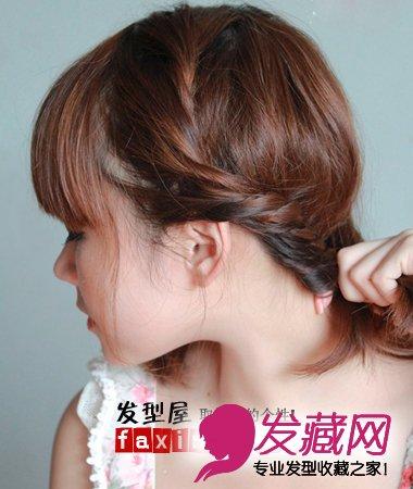 教你如何盘头发 教你短发盘头发方法(3)图片