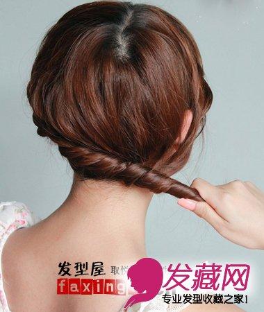 【图】教你如何盘头发 教你短发盘头发方法(5)_编发
