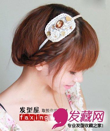 教你如何盘头发 教你短发盘头发方法(7)图片