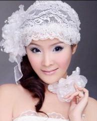 夏日最新灵动甜美新娘发型图片
