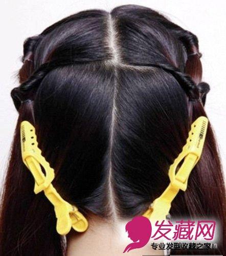 2015韩式新娘发型扎法 7个步骤图(5)