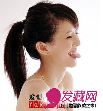女生可爱马尾辫扎发发型(3)
