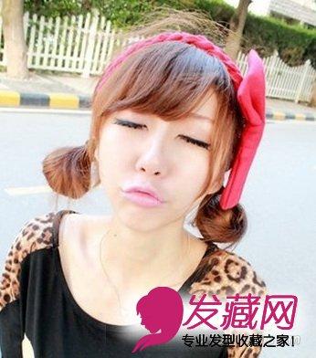 简单韩式发型扎法 甜美可爱广受欢迎(8)