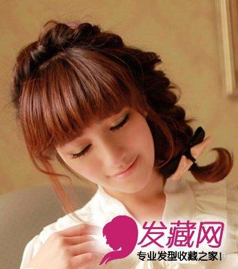简单韩式发型扎法 甜美可爱广受欢迎(9)
