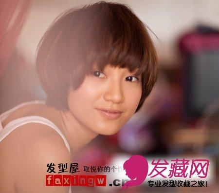 朱丹居家写真 清爽唯美短发发型图片(2)