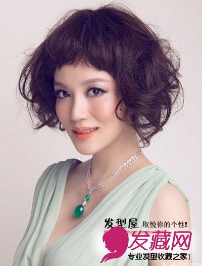 发型网 女生发型 女明星发型 > 唐于鸿时尚写真 华丽女人气质短卷发图